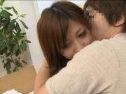 Japanese AV model loves having her sweet pussy cream pied