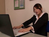 Hard Fucking At The Office With Risa Kotani In Stockings picture 5