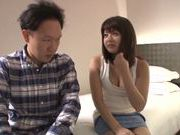 Gorgeous Japanese porn model gets fucked and swallows jizz