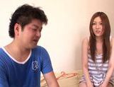 Hot Yui Tatsumi cooks up steamy wild sex with friend picture 15