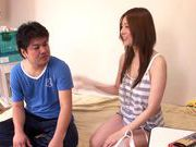 Hot Yui Tatsumi cooks up steamy wild sex with friend