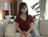 Masturbating MILF Moe Ohishi Gets Off In Front Of The Camera picture 7
