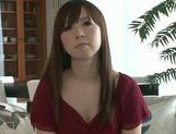 Masturbating MILF Moe Ohishi Gets Off In Front Of The Camera picture 8