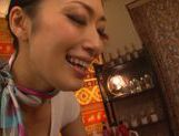 Candy ass Japanese stewardess Reiko Kobayakawa rides cock picture 11