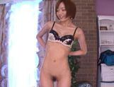 Sexy Japanese AV Model gets help with a vibrator rubbing her clit