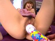 Sexy Japanese AV Model gets help with a vibrator rubbing her clitasian chicks, hot asian pussy}