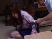 Akino Yoshizawa covered in fresh cum after fucked hard!
