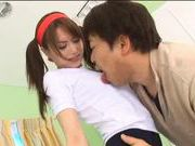 Japanese model drilled by hard cock