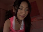 Charming Japanese AV girl Yua Saiki deepthroats and rides cock