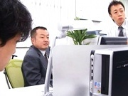 Japanese models toyed and fucked in wild office orgy