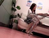 Hot Japanese AV model performs in front of voyeur picture 3