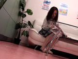 Hot Japanese AV model performs in front of voyeur picture 4