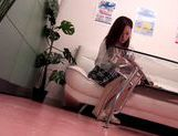 Hot Japanese AV model performs in front of voyeur picture 5