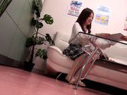 Hot Japanese AV model performs in front of voyeur