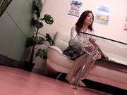 Hot Japanese AV model performs in front of voyeur