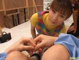 Sexy teen Akane Sakura takes part in a wild orgy at the backstage. picture 15