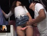 Nice assed girl Ayumu Sena gets her hairy pussy fingered and fucked. picture 11
