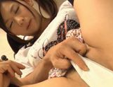 Sexy teen Nana Ogura takes a big cock and gets cum right in her mouth. picture 11