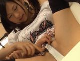 Sexy teen Nana Ogura takes a big cock and gets cum right in her mouth. picture 14