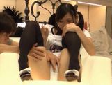 Sexy teen Nana Ogura takes a big cock and gets cum right in her mouth. picture 7