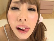 Frisky Japanese milf Shunka Ayama makes hot posing on pov video