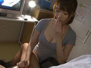 Cute and horny babe Misuzu Tachibana stroking and sucking cock