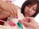 Tomoka Minami's Hairy Pussy Flooded With Sex Toys