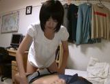 Short-haired Japanese teen relieves her strong sexual tension picture 12