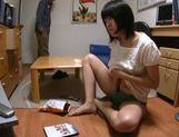 Short-haired Japanese teen relieves her strong sexual tension