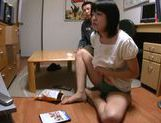 Short-haired Japanese teen relieves her strong sexual tension picture 8
