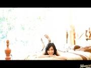 Nana Ogura spinning around in her sexy bikini