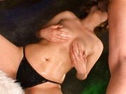 Riko Aoki Asian model gets a load of cum on her face