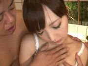 Oiled Up Moe Ohishi Teased And Fucked By Two Guys