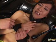 Kinky hottie fucked with toys