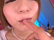 Arousing Japanese AV model gets pussy banged hard