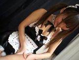 Naughty housemaid Shizuku Hasegawa sucks her master's cock pov