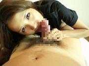 Ayaka Tomoda Asian doll gives a sensual blowjob