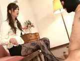 Cute Japanese AV model fucks amateur with strap-on picture 6