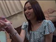 Hot teen Japanese AV Model takes a pounding doggy style upskirt