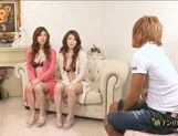 Natsu Ando And Seira Moroboshi Enjoy A Foursome picture 1