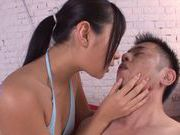Arousing Asian teen Nana Ogura enjoys position 69
