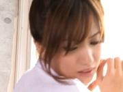 Schoolgirl AV Model Shows How She Milks A Dick Dry