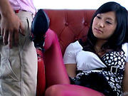Nana Ogura super hot foot job!sexy asian, japanese sex}