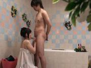Beautiful Japanese teen Aina Shirahane is amazed of rough fuck