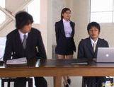 Yuma Asami gets fucked by two big dicks