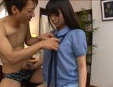 Nice teen Yuria Ayane huge tits babe riding cock ! picture 13