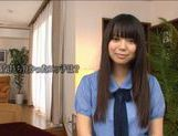 Nice teen Yuria Ayane huge tits babe riding cock ! picture 1