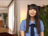 Nice teen Yuria Ayane huge tits babe riding cock ! picture 2