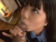 Nice teen Yuria Ayane huge tits babe riding cock !