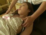 Hinata Komine gets massaged and fingered by a horny babe Anri Hoshizaki.
